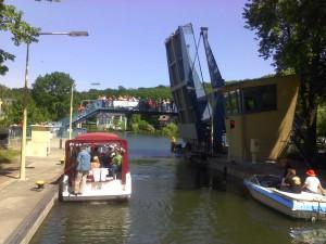 Woltersdorfer Schleuse: Auf dem Weg zum Stienitzsee. Herrentagstour 2011.