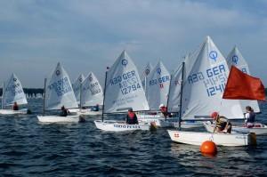 Hier starten die Optis der 17. Karl-Lehmann-Regatta 2011