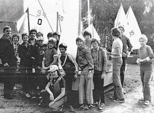 Opti-Training mit Karl Lehmann am Müggelsee in den 70er Jahren.