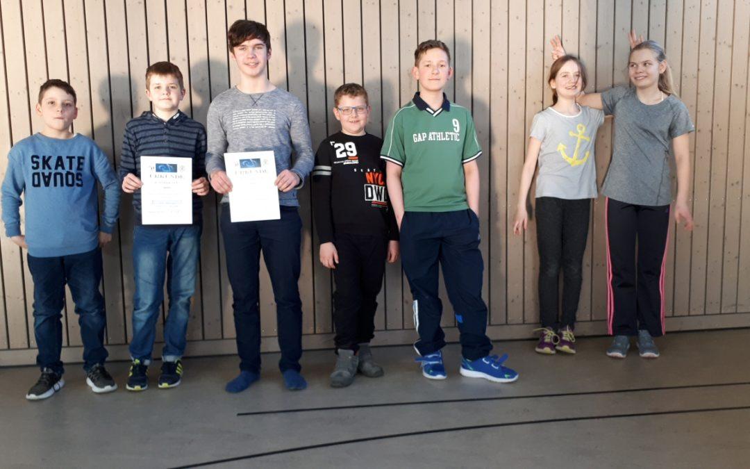 Unsere Opti-Kids beim Athletikpokal 2018 in der Flatow-Schule